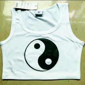 Yin-Yang Summer Crop Top
